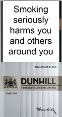 Dunhill Fine Cut Signature Blend Cigarettes pack