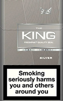 King Silver Cigarettes pack