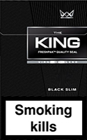 King Slims Black Cigarettes pack