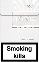 King Slims White Cigarettes pack