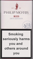 Philip Morris Red 100S Cigarettes pack