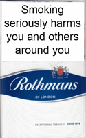 Rothmans King Size Blue Cigarettes pack
