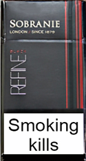 Sobranie Refine Black Cigarettes pack