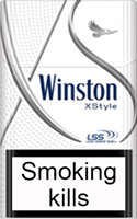 Winston XStyle Silver Cigarettes pack