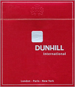 Dunhill International Cigarettes pack