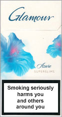 Glamour Super Slims Azure 100's Cigarettes pack