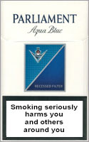 Parliament Aqua Blue (Lights) Cigarettes pack