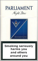 Parliament Night Blue Cigarettes pack