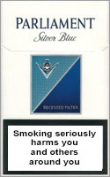 Parliament Silver Blue (Extra Lights) Cigarettes pack